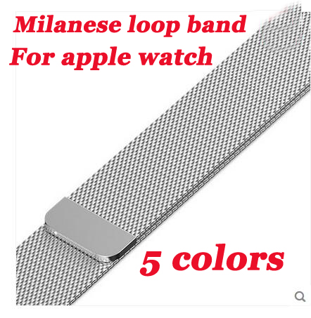 Series 4/3/2/1 magnet metal strap for Apple Watch Band Milanese loop belt for iwatch wristband Stainless Steel 38/42mm 40mm 44mm so buy for apple watch series 3 2 1 watchbands 38mm belt 42mm stainless steel bracelet milanese loop strap for iwatch metal band