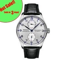 43 мм Parnis автоматические часы запас хода механические часы классические мужские Diver часы лучший бренд класса люкс мужские relogio masculino