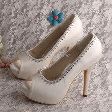 Wedopus Элегантный Кот Насосы Свадебные Туфли На Платформе Дамы Высокие каблуки Челнока