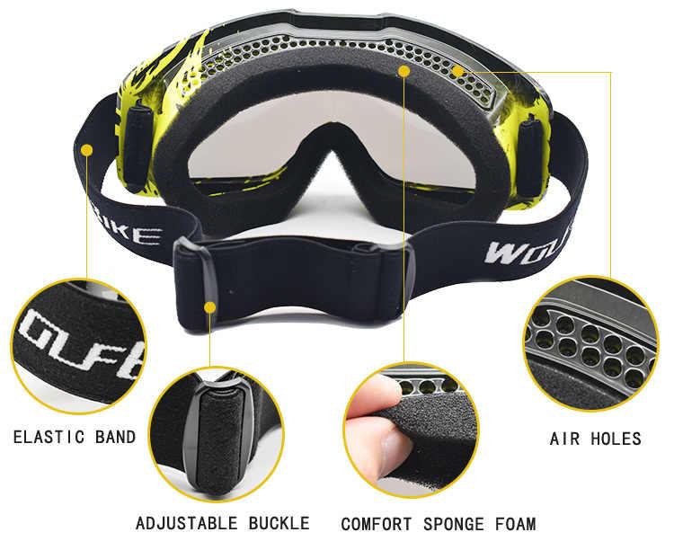 82bb44fbe14 ... WOLFBIKE snowboarding Windproof Glasses Outdoor Ski Goggles Dustproof  Snow Men Women Motocross Goggles Mountain Skiing Eyewear ...