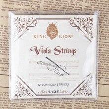 Король Лев нейлон альт струны качество ручной работы альт диаметр струн дюймов: 025-042