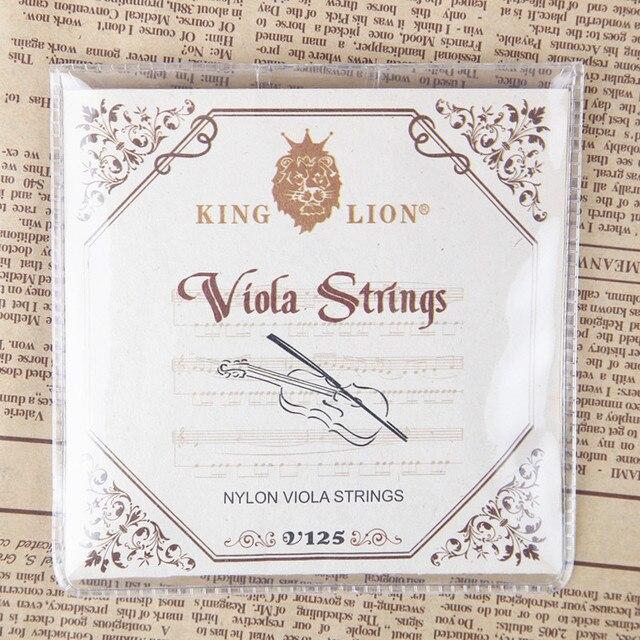 Король Лев нейлон Виола строки качества ручной работы Виола строки диаметр дюймовый: 025-042 Бесплатная доставка