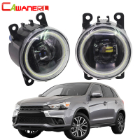 Cawanerl For Mitsubishi RVR Car 4000LM H11 LED Fog Light Angel Eye Daytime Running Light DRL 12V 2013 2014 2015 2016 2017 2018