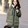 Fashion Thick Military Style Goose Down Jacket Parka Brand Long women winter coats jackets Outerwear Women abrigos mujer X1083