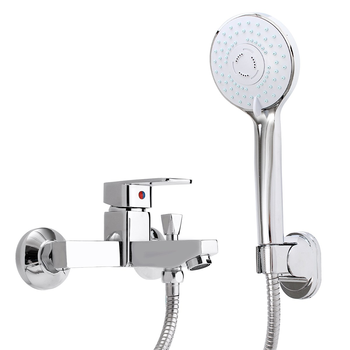 New Brass Bathroom Hot&Cold Shower Sets Mixer Tap Faucet Wall Mounted Bathtub Shower Faucet Taps Kits Hose sognare new wall mounted bathroom bath shower faucet with handheld shower head chrome finish shower faucet set mixer tap d5205