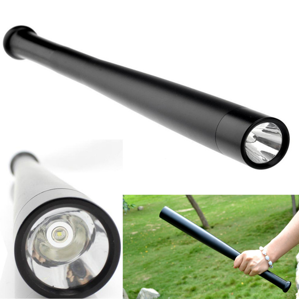 Flash Light Us 13 29 5 Off Led Q5 Heavy Metal Long Baseball Bat Flashlight Flash Light Torch Security In Led Flashlights From Lights Lighting On