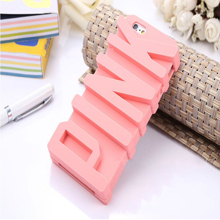 "NECONO 3D ""PINK"" Soft Silicone Rubber Cases for Apple iPhones (Range see descriptions) 2"
