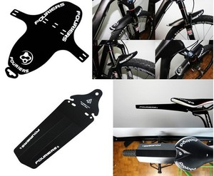 2pcs/lot FOURIERS New Mountain Bike Road bicycle MTB Fender Mudguard Mud Front Fork Rear Portable Quick Release 6 Color