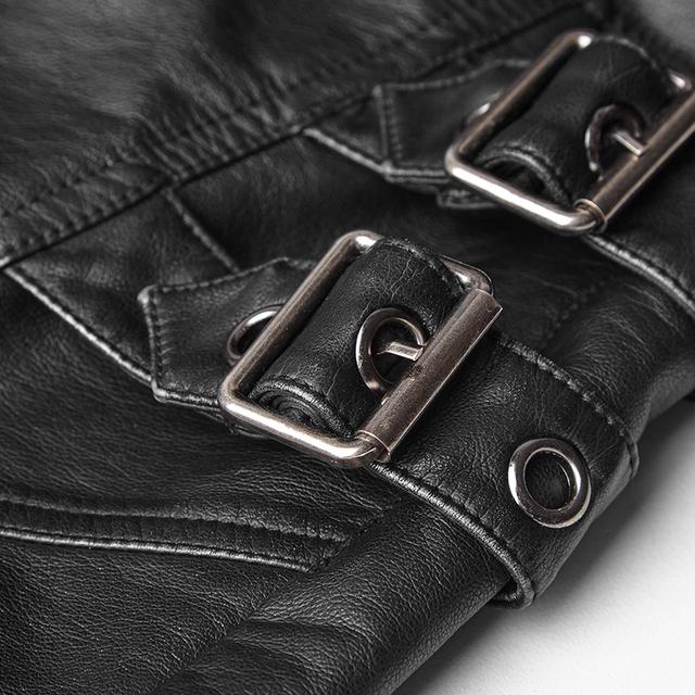 New Punk Rave Rock Fashion Rock Black Gothic style Faux Leather Pants Trousers K301