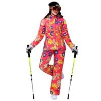 Brand Ski Suit Women Warm Waterproof Skiing Suit Sets Winter Snow Jackets Pants Snowboarding Ski Clothing
