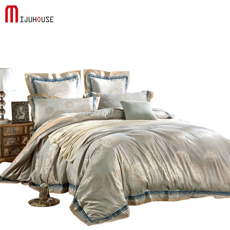 Music Memorabilia Genteel Satin Jacquard Bedding Sets Bedlinen Soft And Luxury Summer Bedding Set Queen King Size Quilt Cover Flat Sheets Pillowcase 4pcs Diversified Latest Designs