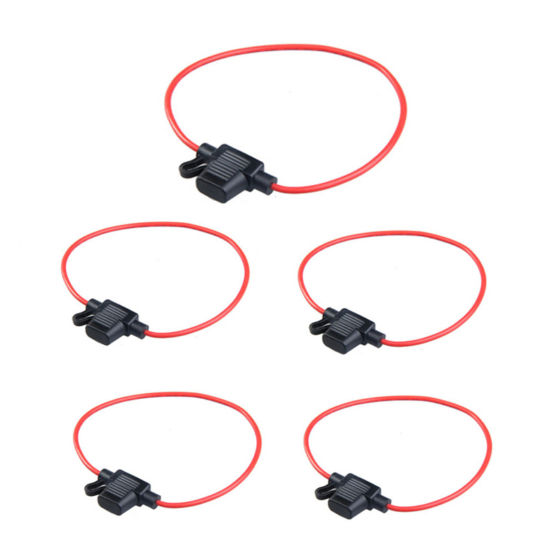 5pcs Waterproof Power Socket Mini Blade Type In Line Fuse Holders With 10A Fuse Car Replacement Fuses Free Shipping add a circuit standard mini micro blade fuse boxes holder piggy back fuses tap