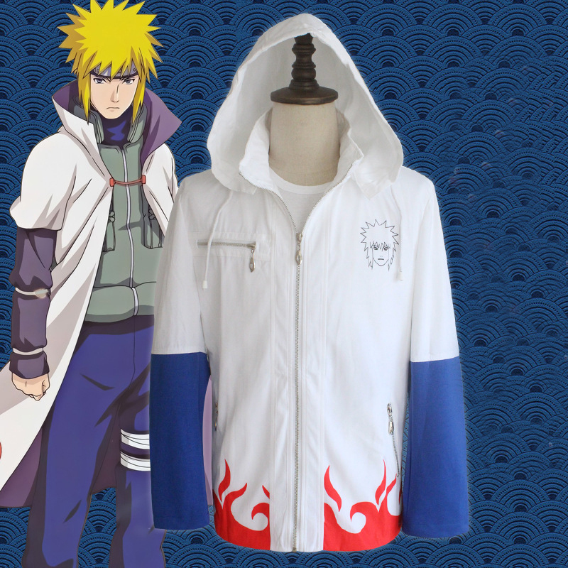 Naruto cosplay Yondaime Hokage hoodies costumes for man