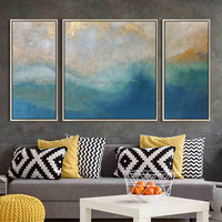 Canvas painting acrylic painting 3 pieces abstract seascape painting Wall art Pictures for living room home decor caudros decor5