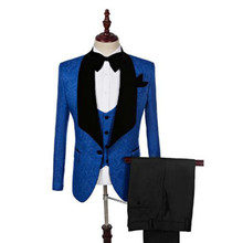 Популярный костюм мужской тонкий костюм с принтом мужской повседневный деловой мужской свадебный костюм для подружек невесты синее платье