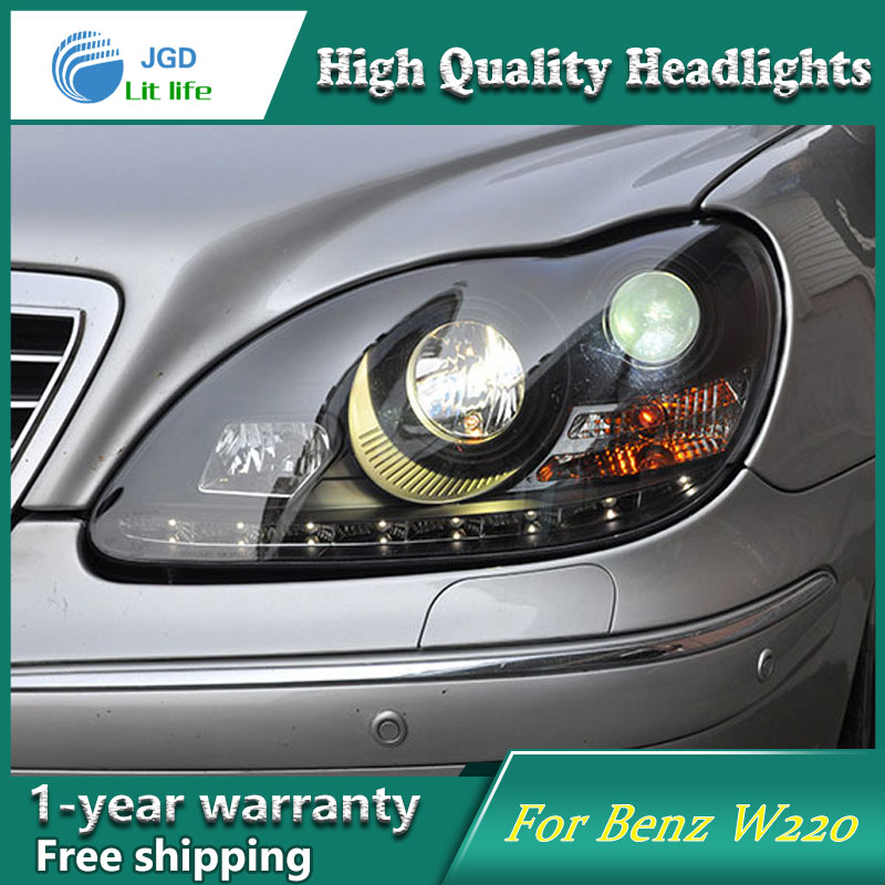 Car Styling Head Lamp case for Mercedes Benz W220 S280 S320 S500 S600 Headlights LED Headlight DRL Lens Double Beam Bi-Xenon HID auto fuel filter 163 477 0201 163 477 0701 for mercedes benz