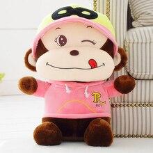 Monkey Cartoon Soft Animals Stuffed Plush Toys Pink Kids Doll  Peluche Gigante Cute Pillow Baby Knuffel Graduation Gift 70G0362