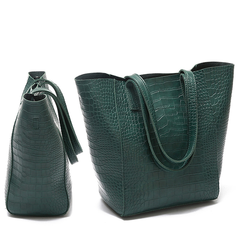 Alligator PU Leather Shoulder Bags Designer Tote Handbag