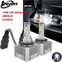 SPEVERT Newest 110W 26000LM D1S D2S D3S D4S Car LED Headlight Kit White Bulbs Replace Xenon
