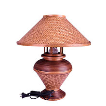Southeast Asia Bamboo Table Lamp Creative Retro Bedroom Bedside Desk Lamp Hotel Handmade Bamboo Standing Lamp Lampara De Pie(China)