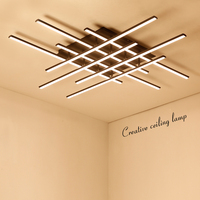 NEO Gleam Square Modern Led Ceiling Lights For Living Room Bedroom Dining Room Luminarias Aluminum White