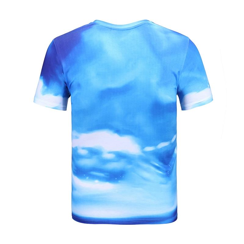 Mr.1991INC Cool Men/Women T-shirt 3d Funny Cloud Sky Cartoon Boy Printed Short Sleeve Fashion T Shirt Tops Tees Hip Hop S to XXL