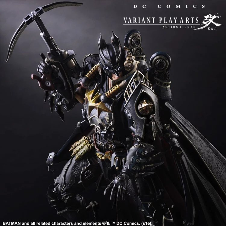 28cm Play arts Kai bushido bat man Steampunks batman anime action toy figures PVC Model Collection original box цена