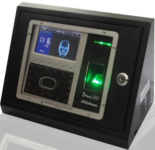 ZK door lock solution elegant design TFT LCD touch screen iface302 facial fingerprint ID card