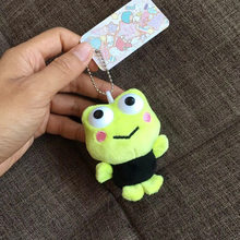 Japanese wear clothes frog plush pendant toy doll clamshell doll plush keychain 8cm wj04(China)