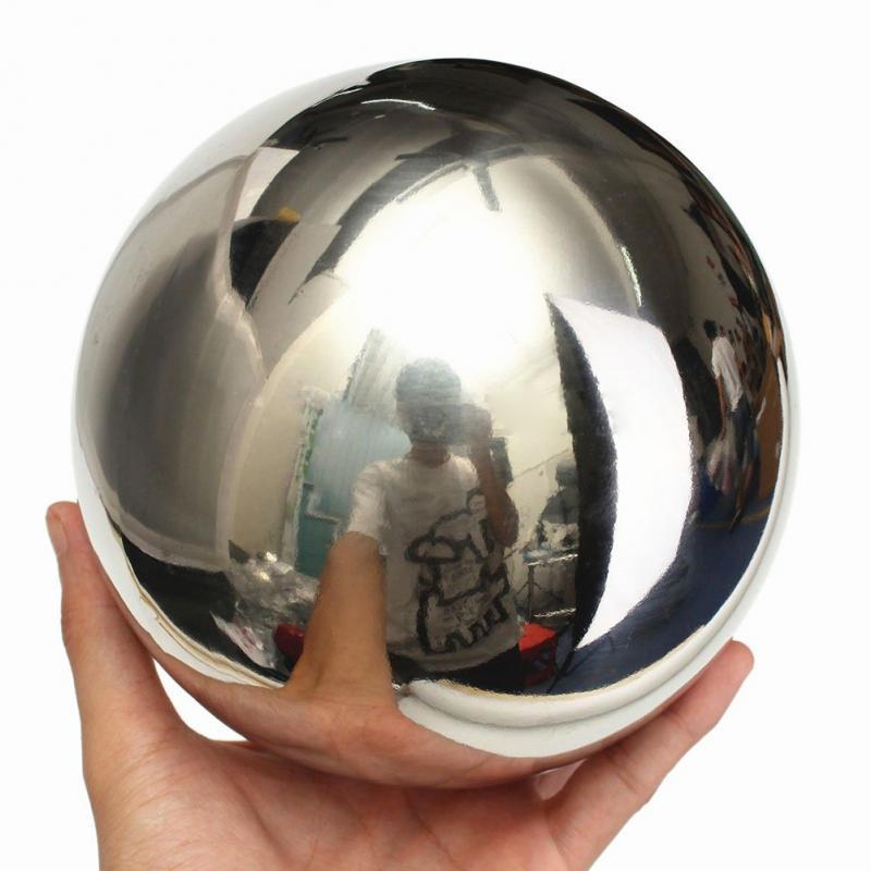 €0.92 12% de réduction|Acier inoxydable boule creuse luminosité brillant  miroir sphère boules creuses maison jardin outils boules ornement  décoration ...