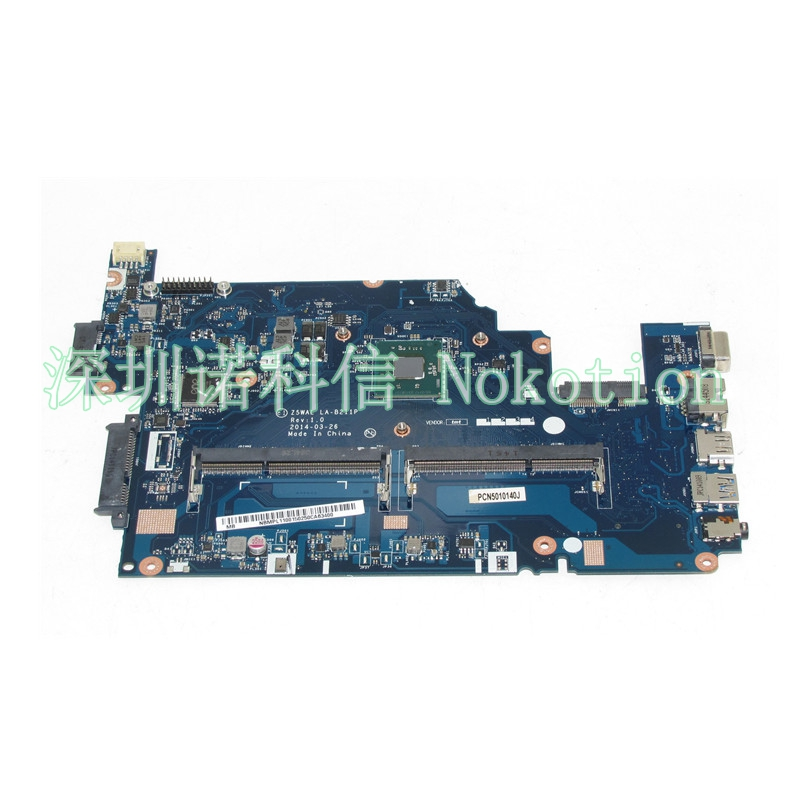 NOKOTION NBMPL11001 NB.MPL11.001 Laptop motherboard For Acer aspire E5-511 Z5WAL LA-B211P SR1W3 N2930 CPU DDR3L Mainboard nokotion la 5481p laptop motherboard for acer aspire 5516 5517 5532 mbpgy02001 mb pgy02 001 ddr2 free cpu mainboard