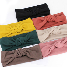 New 1PC Soft Wide Cross Headbands Adjustable Comfortable Solid Cotton Stripe Elasticity Hair Bands