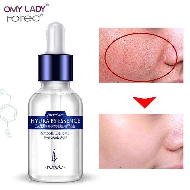 ROREC sérum visage Acide Hyaluronique essence sérum pour le visage Soins de La Peau rétrécir les pores Anti-Vieillissement Intensive De Levage Raffermissant Anti-Rides