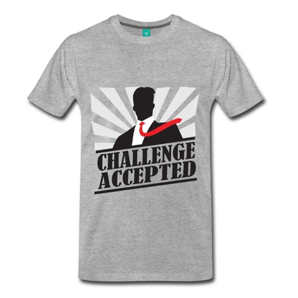 Shirt design cheap - Tee4u Cheap T Shirt Design Casual Men Crew Neck Short Sleeve Challenge Accepted Tee Shirts
