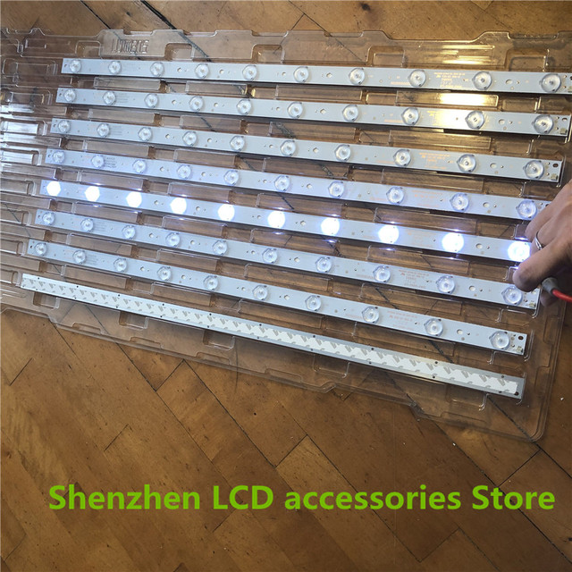 New 30 Pieces*10 LEDs*3V 32 568mm*17mm LED Backlight  Optical Lens Flite Replacement compatible TV Monitor