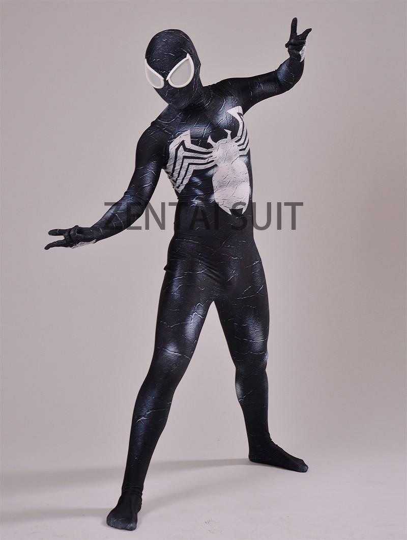 Venom Spider-man Costume Spandex 3D Տպագրություն Սև - Կարնավալային հագուստները - Լուսանկար 4