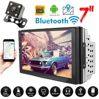 7 inch Android 6.0 Quad Core HD Double 2 DIN Car Radio GPS MP5 DVD Player Stereo Universal 16gGB WiFi GPS Navigation Rear Camera