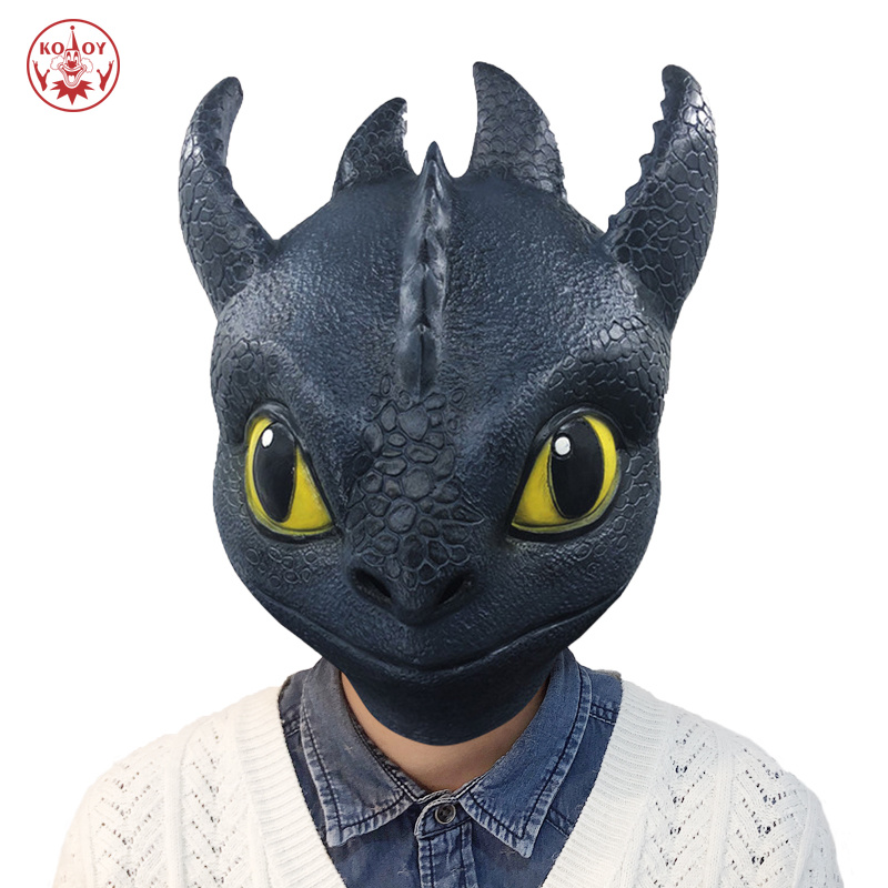 2019 How To Train Your Dragon cosplay mask Adult Halloween Party costume The Hidden World Horror dragon latex masks Helmet