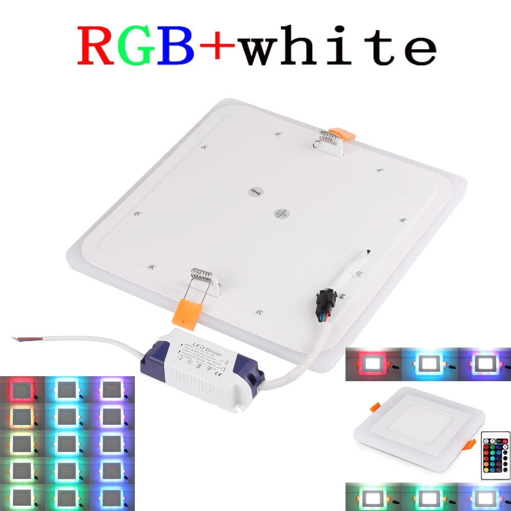 High Power Epistar 6W 9W 18W 24W RGB LED Panel Light With Remote Control Downlight Led ceiling down AC85-265V + Driver