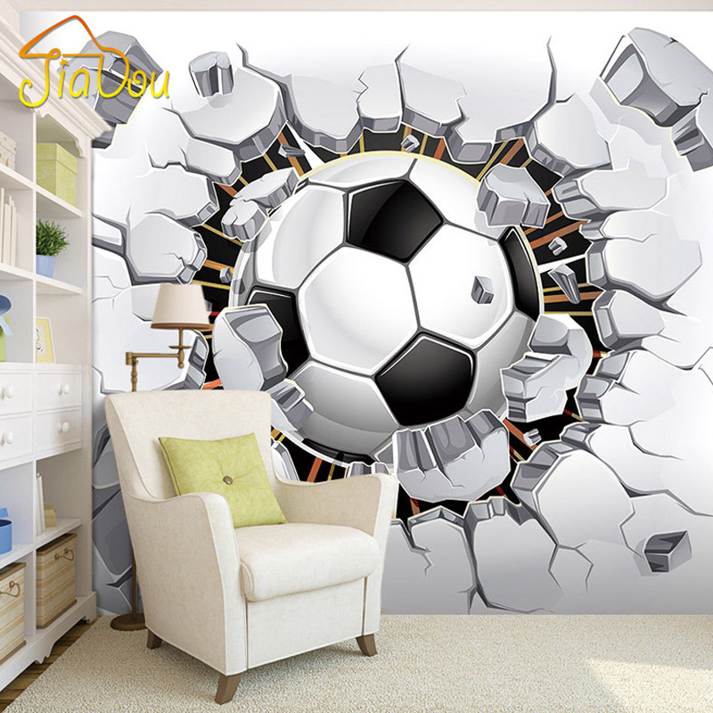 3D Soccer Wallpaper Sport Background Mural Living Room Sofa Bedroom Football TV Backdrop Custom Any Size Wall Mural Wallpaper custom 3d stereoscopic large mural space living room sofa bedroom tv backdrop 3d wallpaper woods nature