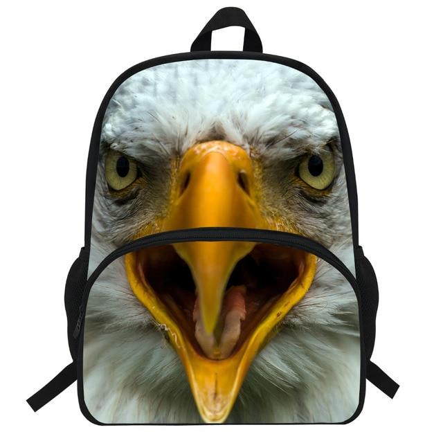 16-Inch Fashion Children Bag School For Boys Animal Backpack Mochila School  Kids Backpack Hawk Bald Eagle Print Daypak b71444c8b9706