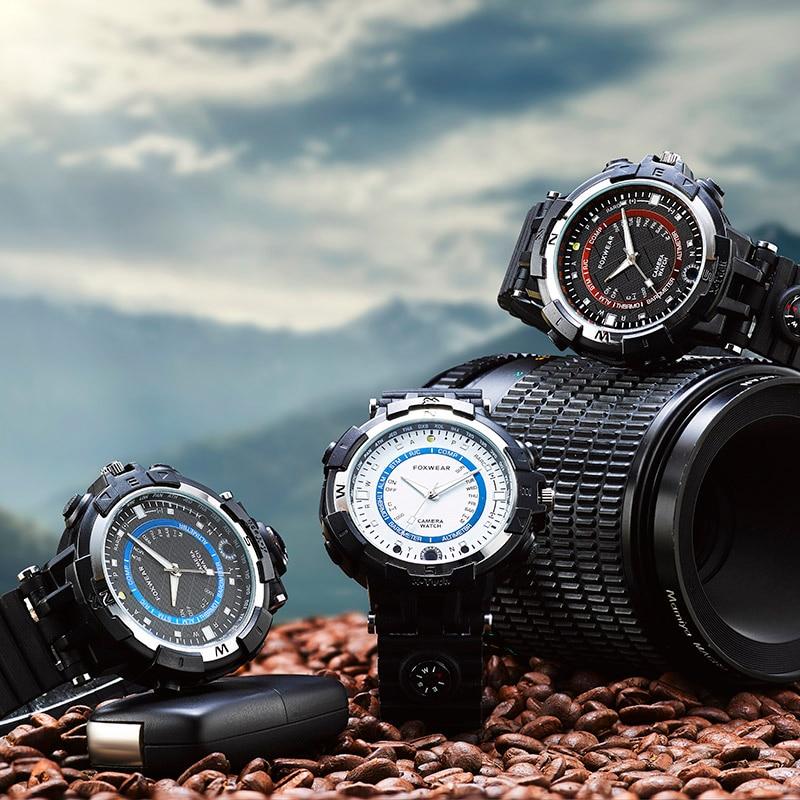 Reloj inteligente para cámara FOX8 WiFi con brújula Mini DVR construido 8G/16G/32 en oferta 2018G coche bicicleta Video grabadora wifi reloj Cámara-in Cámaras de vigilancia from Seguridad y protección on AliExpress - 11.11_Double 11_Singles' Day 1