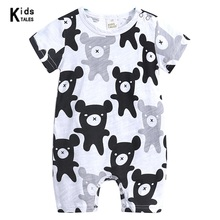 2018 Fashion cute summer Baby Rompers Boy & Girl rompers Cartoon Animal 0-18M Jumpsuit Body Suit Clothes