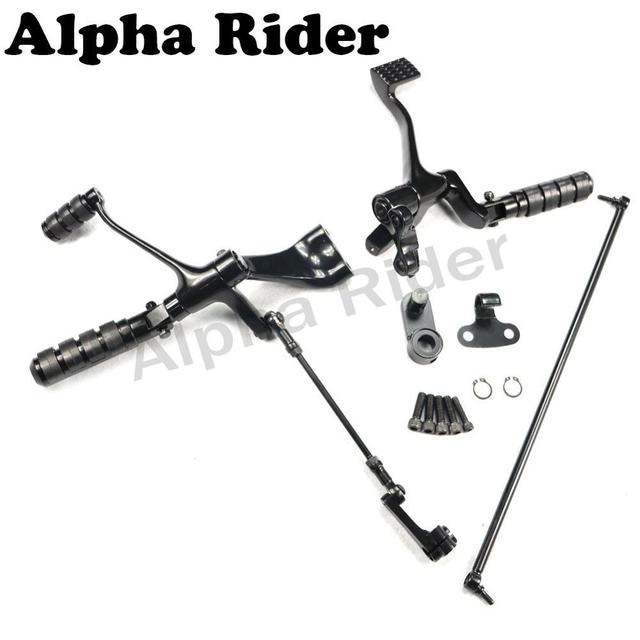 Complete Forward Control Foot Pegs Lever Linkage Kit for