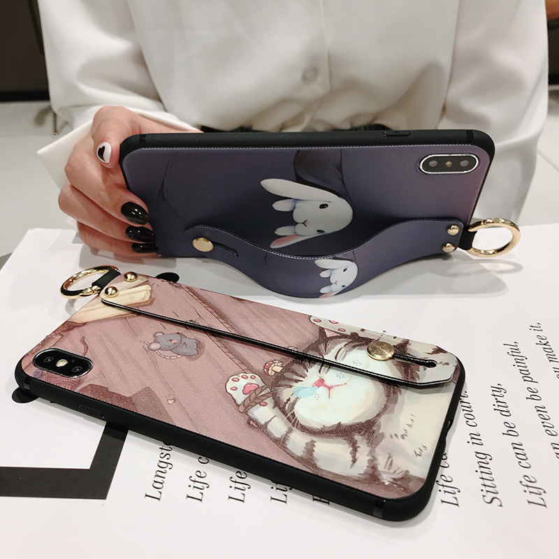 Girls Fashion Case with Wrist Strap for iPhone 11/11 Pro/11 Pro Max 25