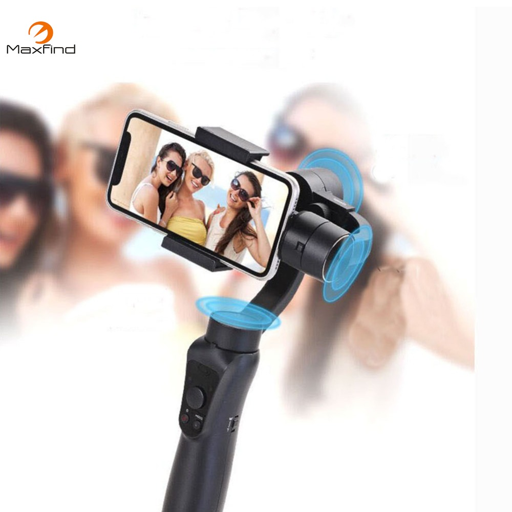 Maxfind Smooth 5S 3-Axis Brushless Bluetooth Handheld Smartphone Gimbal Stabilizer For All phone & Action Camera - Black цена