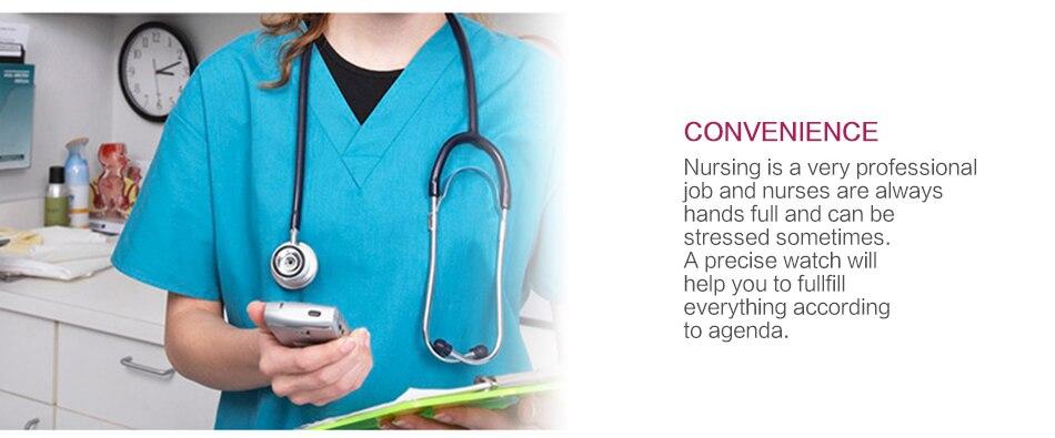 2019 ALK Digital Silicone nurse watch fob pocket watch doctor nurse timepiece brooch lapel Medical Nurse Watch Quartz with Clip 20
