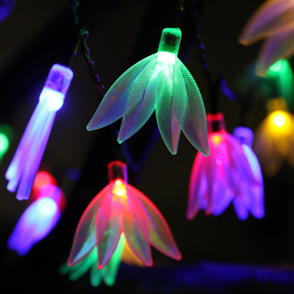 8 Lighting Modes 6M 30LED Battery Powered Leaf Feather LED String Lights Waterproof Festival Fairy Lights with Remote Control