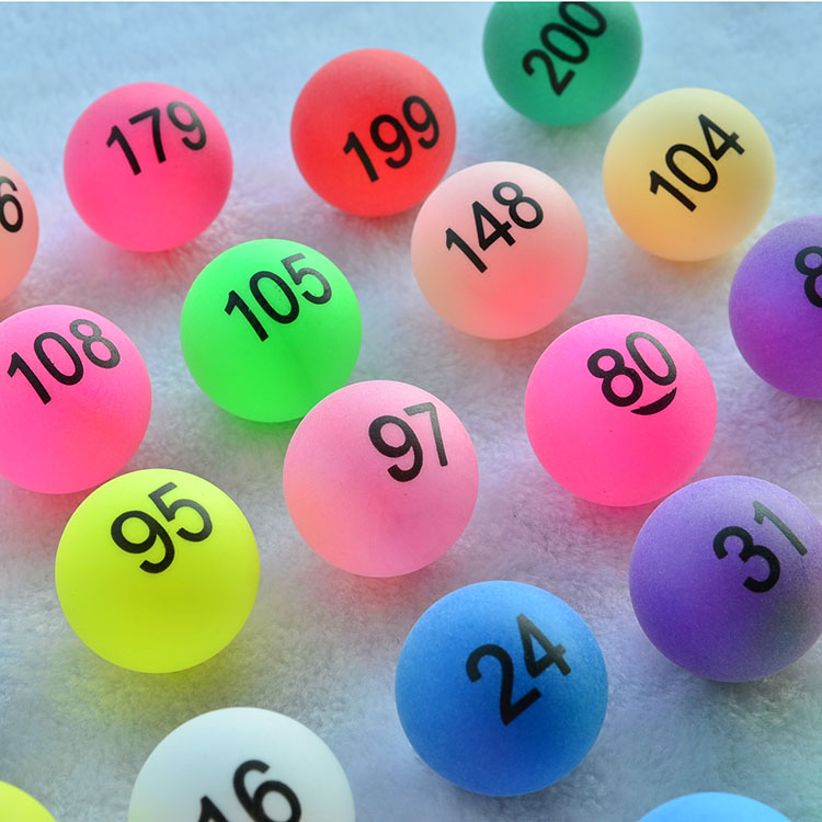 Colorful digital number balls 1 to 200 promotion lottery ball shake number pumping lottery gam edraw ball table tennis number