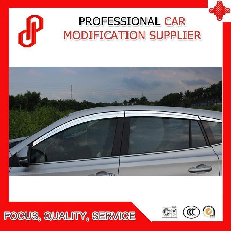 Haute qualité ABS placage décoratif garniture vent ombre pluie soleil vent déflecteur fenêtre visière pour RAV4 2013-2018